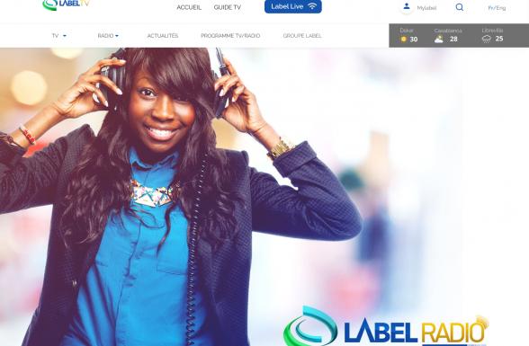 Image d'accueil de Label TV