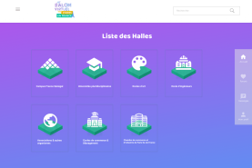Liste des Halls du Salon virtuel Campus France