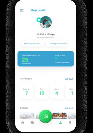 Mon profil de l'application map Action by Volkeno