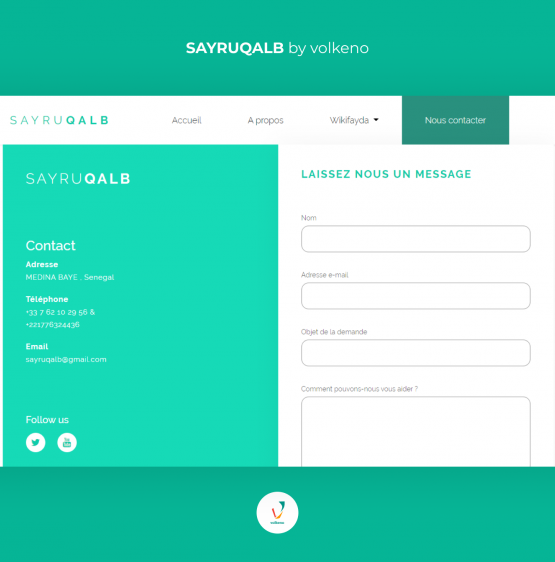 Sayruqalb Application web développée par LevelUp by Volkeno